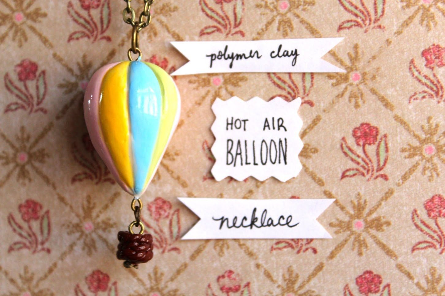 DIY Hot Air Balloon Necklace {Stop Motion!} Polymer Clay Tutorial