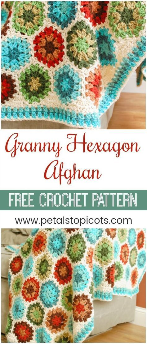 Crochet Hexagon Afghan Pattern And Tutorial Crochet Pinterest