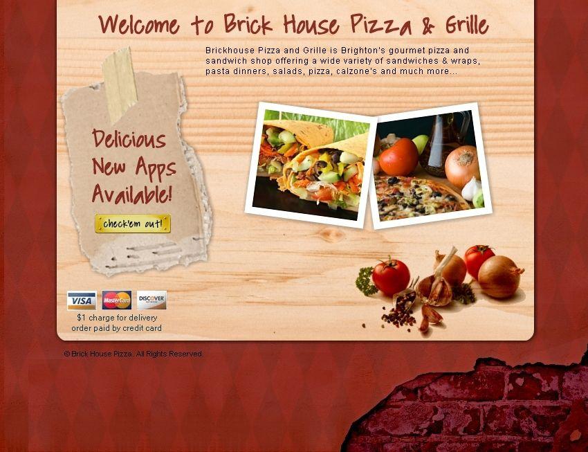 Welcome To Brickhouse Pizza Grille 256 Washington Street