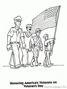 Veterans Day Coloring Pages For Kids And Worksheets For