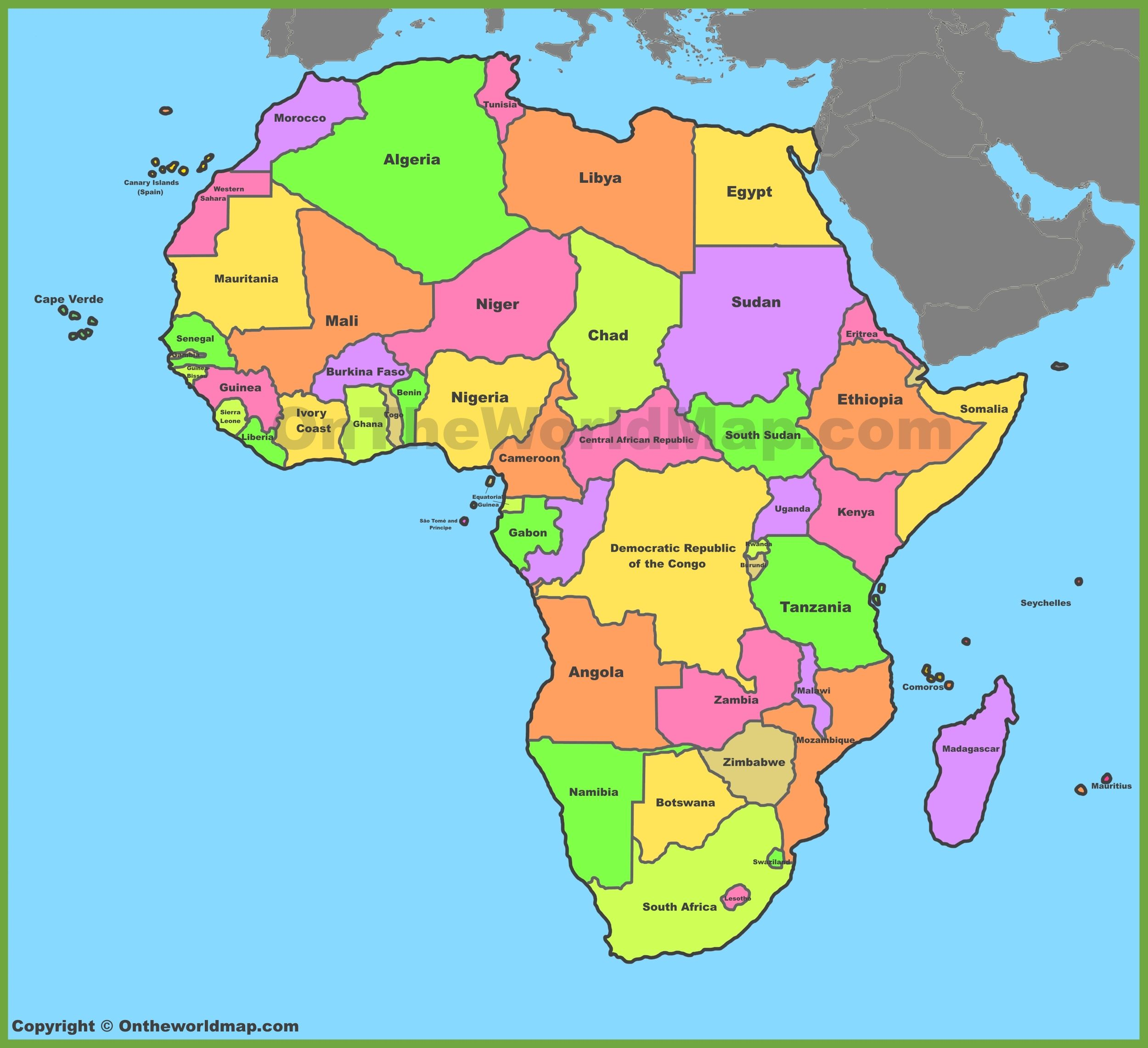 Image result for map of africa | Schuyler sisters | Africa map