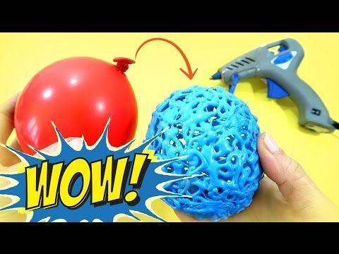 Manualidades fáciles Esferas de silicona caliente hechas con globos - YouTube