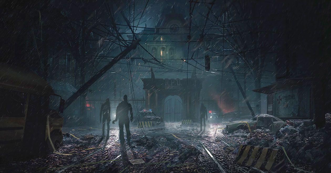 Raccoon Police Department Gate Concept Art Resident Evil 2 2019 Art Gallery In 2020 Resident Evil Concept Art Environmental Art