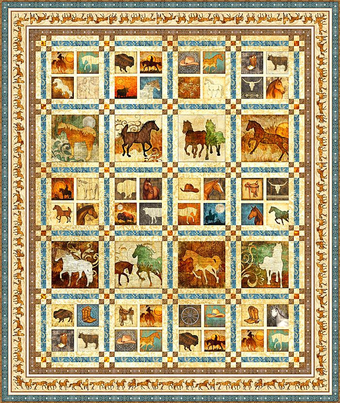 Unbridled Equilter Free Pattern Personalize Your Own At Http