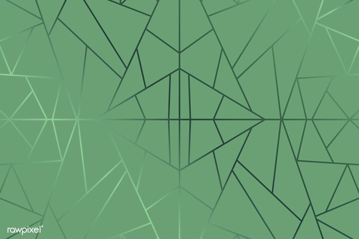 Green Abstract Geometric Background Vector Free Image By