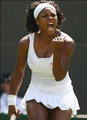 Serena Williams. I love to watch her play. She's just a killer, its awesome to see a woman being powerful, strong and proud.