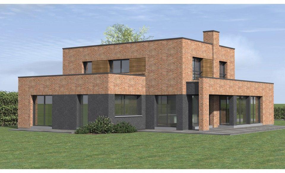 Conception Et Construction De Maisons Cubiques En Briques Un Seul