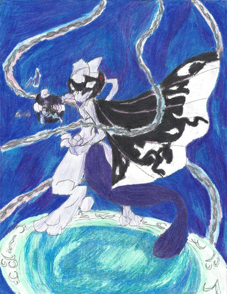 The Masked Mewtwo (updated design) by BreezeAria.deviantart.com on @DeviantArt