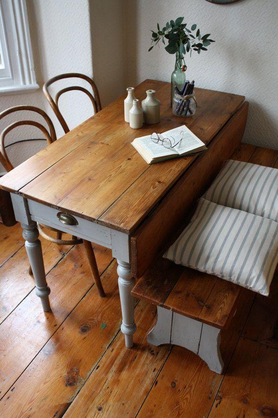 Substantial Victorian Welsh Pine Drop Leaf Table By Arthurandede