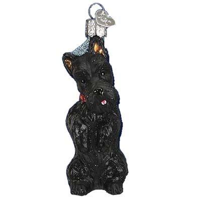 Scottish Terrier Old World Christmas Ornament Short legs, Scottish