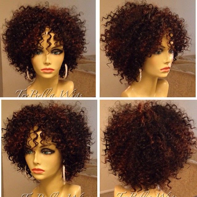 Trebella Full Unit Using Milky Way Human Hair Que Water Deep Wave In 8inch Color 1b 33 My Face Is Not Ma Braids With Curls Curly Hair Styles Wig Hairstyles