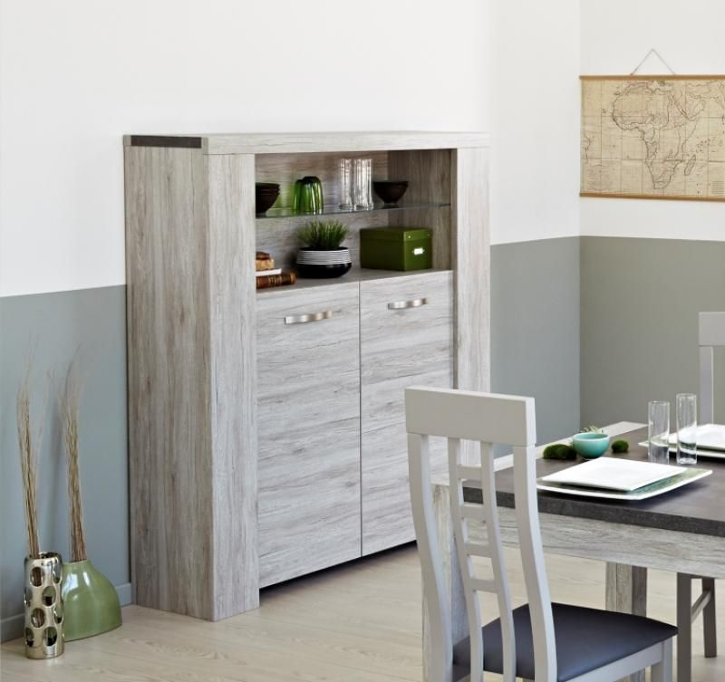 Find This Pin And More On Living Room Malmo Modern Display Cabinet In Portofino Grey Oak