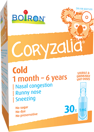 Coryzalia® soothes cold symptoms in children and babies