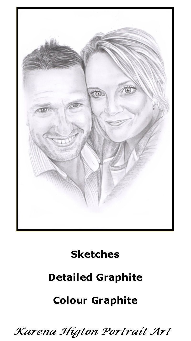 A4 pencil sketch commissioned as a wedding gift