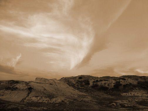 """Badlands Sky"" digital photograph. By Cris Fulton, Bowman, North Dakota, 2012."