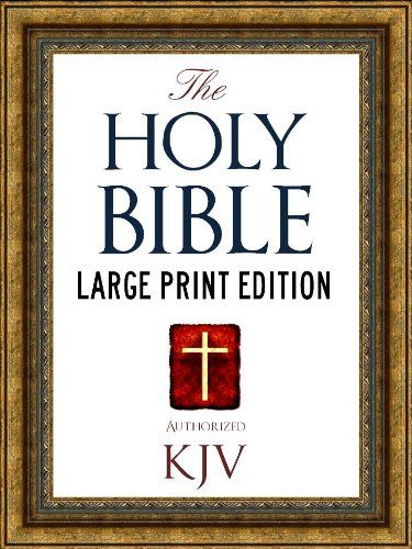 good LARGE PRINT EDITION Authorized King James Version