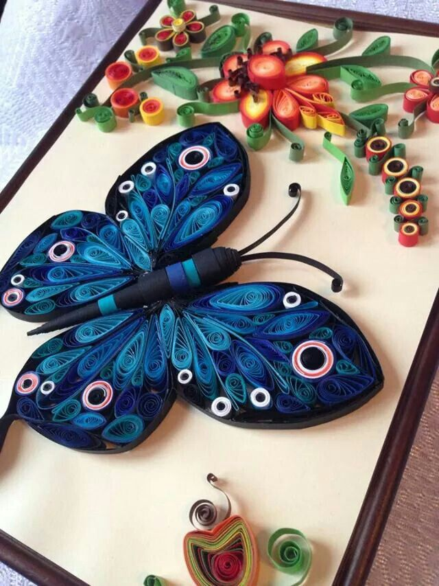 Butterfly quilling love pinterest quilling and butterfly for Quilling paper art