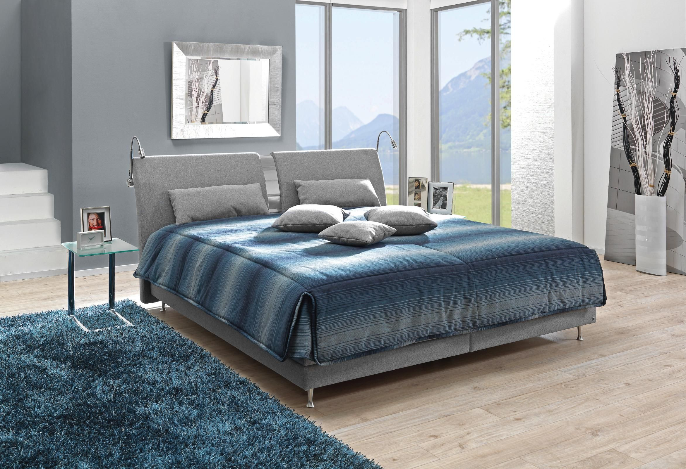 Graues Polsterbett Von Novel Edles Design Maximaler Komfort Furniture Home Bed