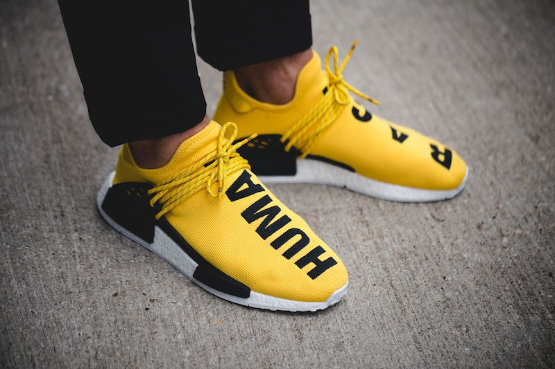 Unboxing Review On feet :Pharrell x Adidas NMD Human Race Red