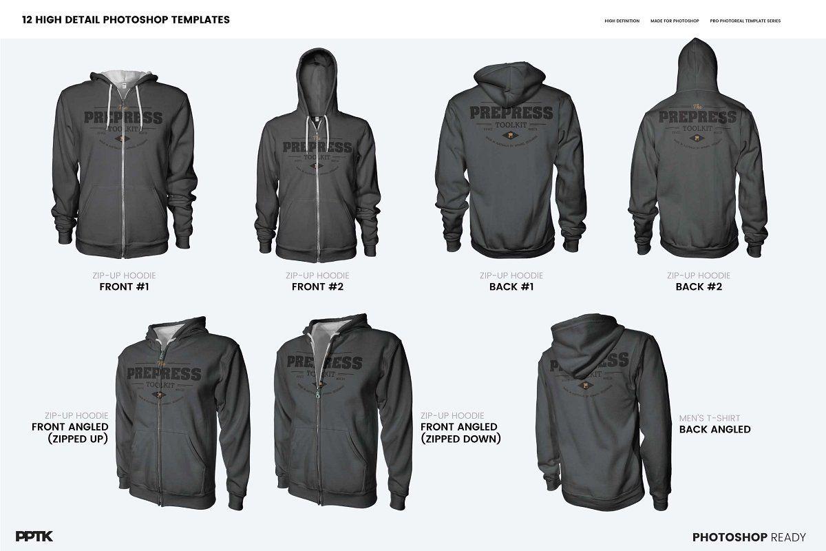 Download Mens Ghosted Zip Hoodie Templates Hoodie Template Digital Design Trends Zip Hoodie