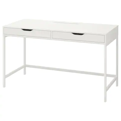 IKEA - MALM Desk with pull-out panel, White