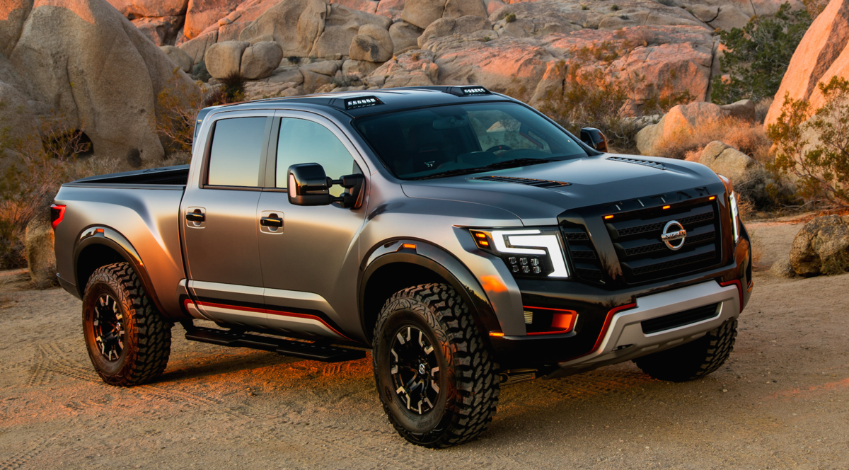 Nissan titan warrior concept truck like it in a futuristic military style sort of way