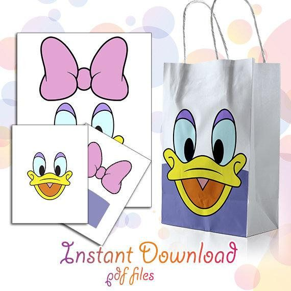 Daisy Duck Birthday Party Decoration Favor Bag Disney Party Paper