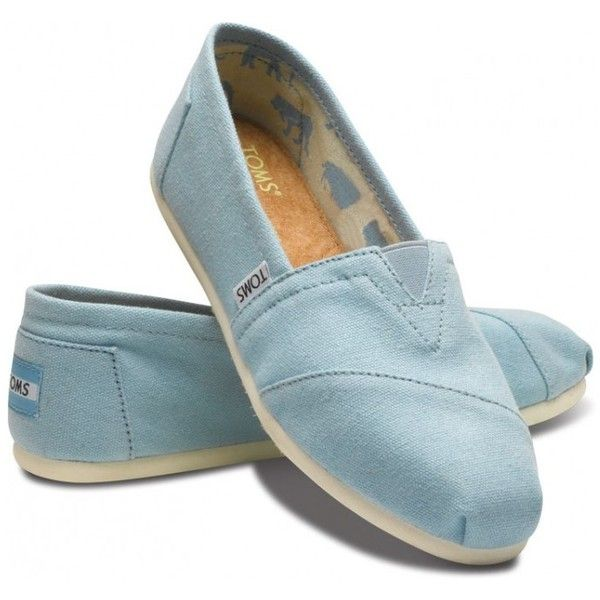 TOMS Blue Canvas Classic Women Slip On Shoes 11
