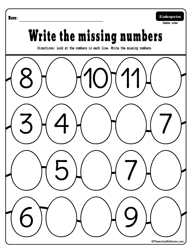 Missing Numbers 1 50 Worksheets For Your Easter Holiday Lessons Easter Math Worksheets Preschool Worksheets Counting Activities Kindergarten