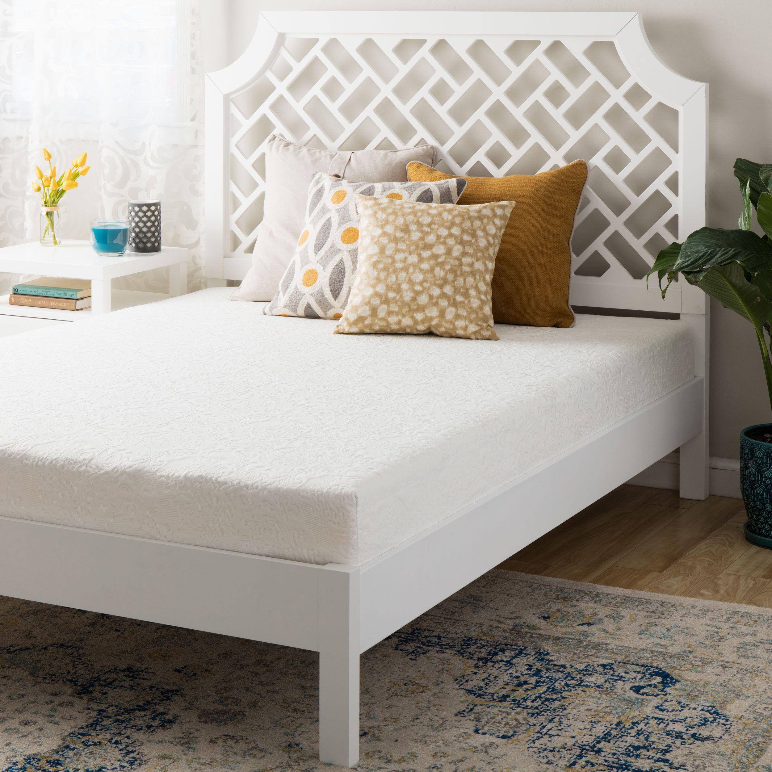 Double Layered 8 Inch Short Queen Size Memory Foam Mattress (size .