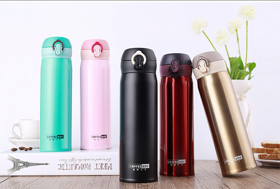 Coffee Boy thermos bottle for tea 500ml Women 304strainless steel Vacuum  Flasks 2249a78cc