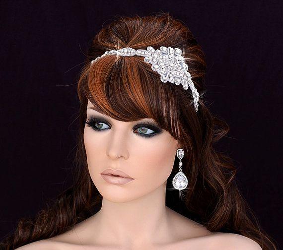 ON SALE Prom Headband Bridal Headpiece Bridal by EleganceByKate ... b5a36a555d5
