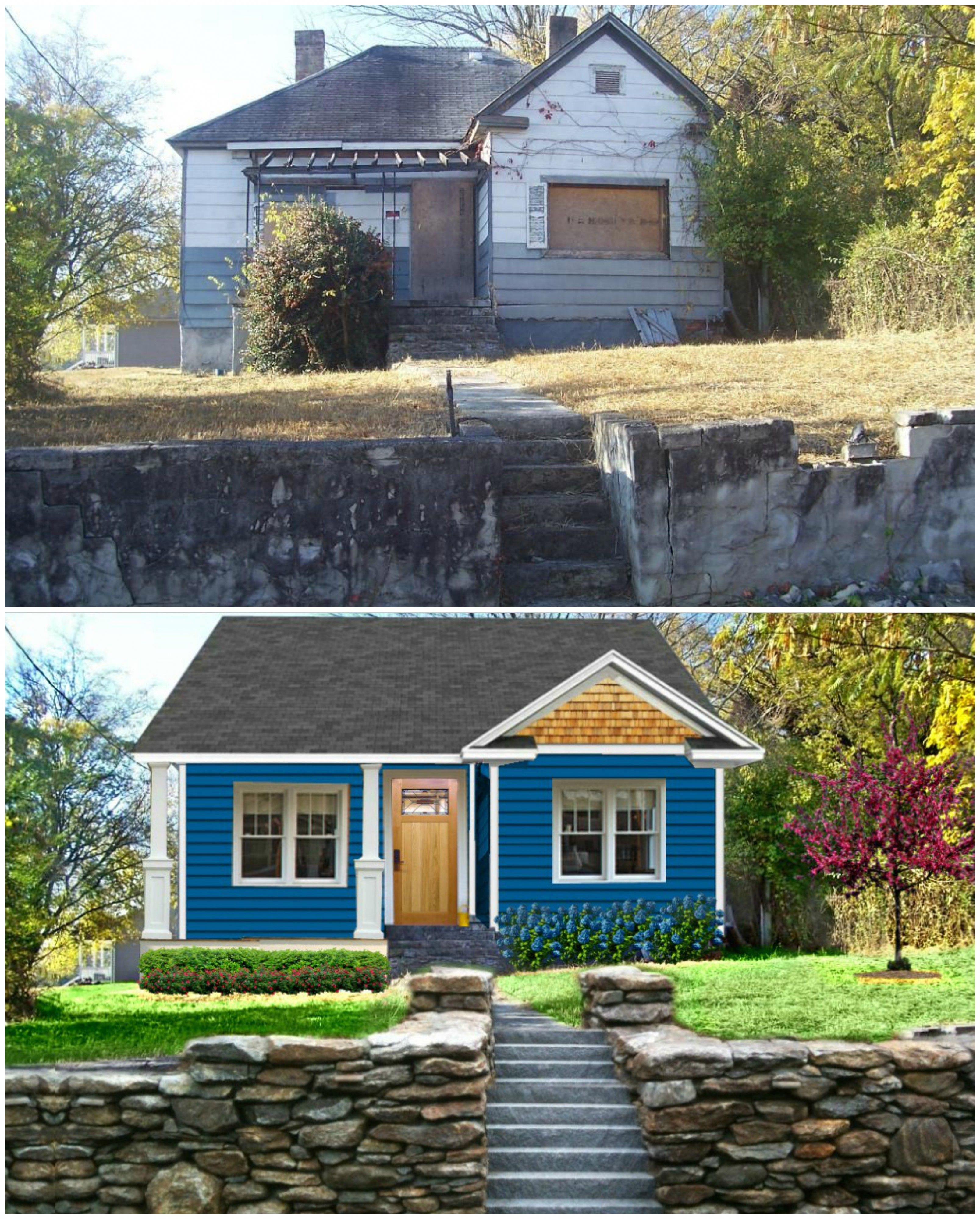 Exterior Home Improvement Ideas: Before & After 1935 Chattanooga Home