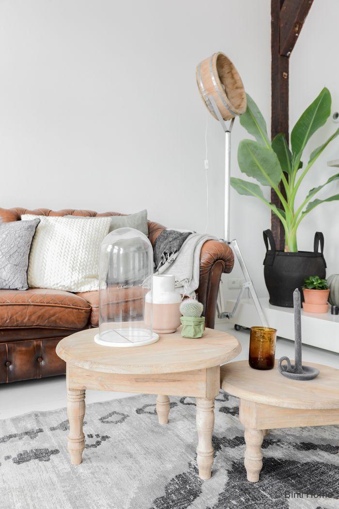 Woonkamer inrichten met pure materialen en warme kleuren | Living ...