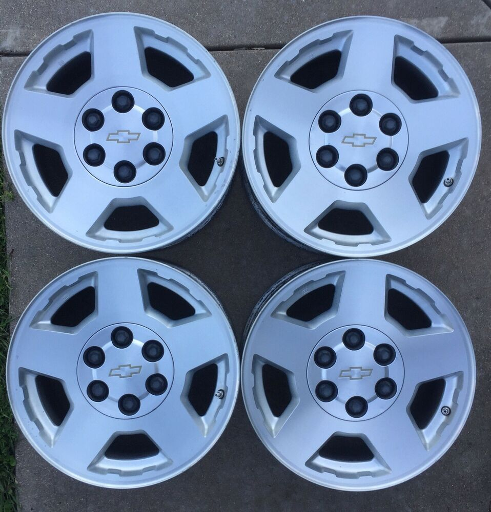Set Of Four 17 Wheels Rims Chevy Silverado 04 07 Oem Suburban Tahoe 04 06 5196 Factoryoem Silverado Chevy Silverado Wheel