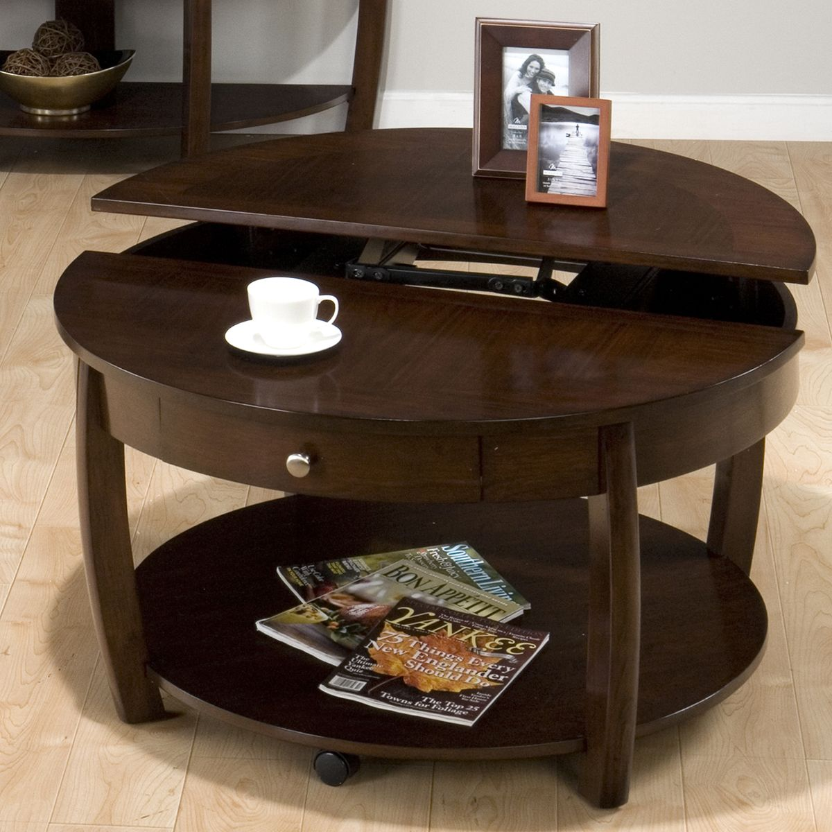 - The Round Coffee Tables With Storage – The Simple And Compact