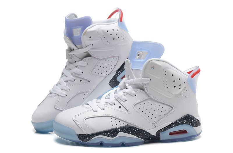 273b130b93677d 2015 New Air Jordans 6 Retro White Black Baby Blue  15RT75 ...