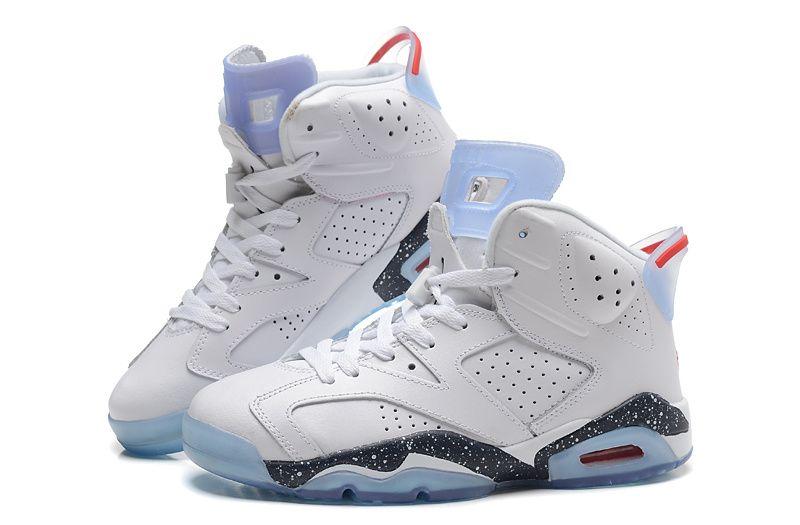 on sale ed58a a6cf4 ... Girls-Air-Jordan-6-Retro-GS-White-Black- ...
