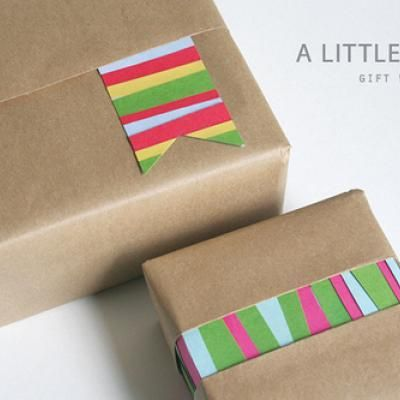 Gift wrapping with scraps