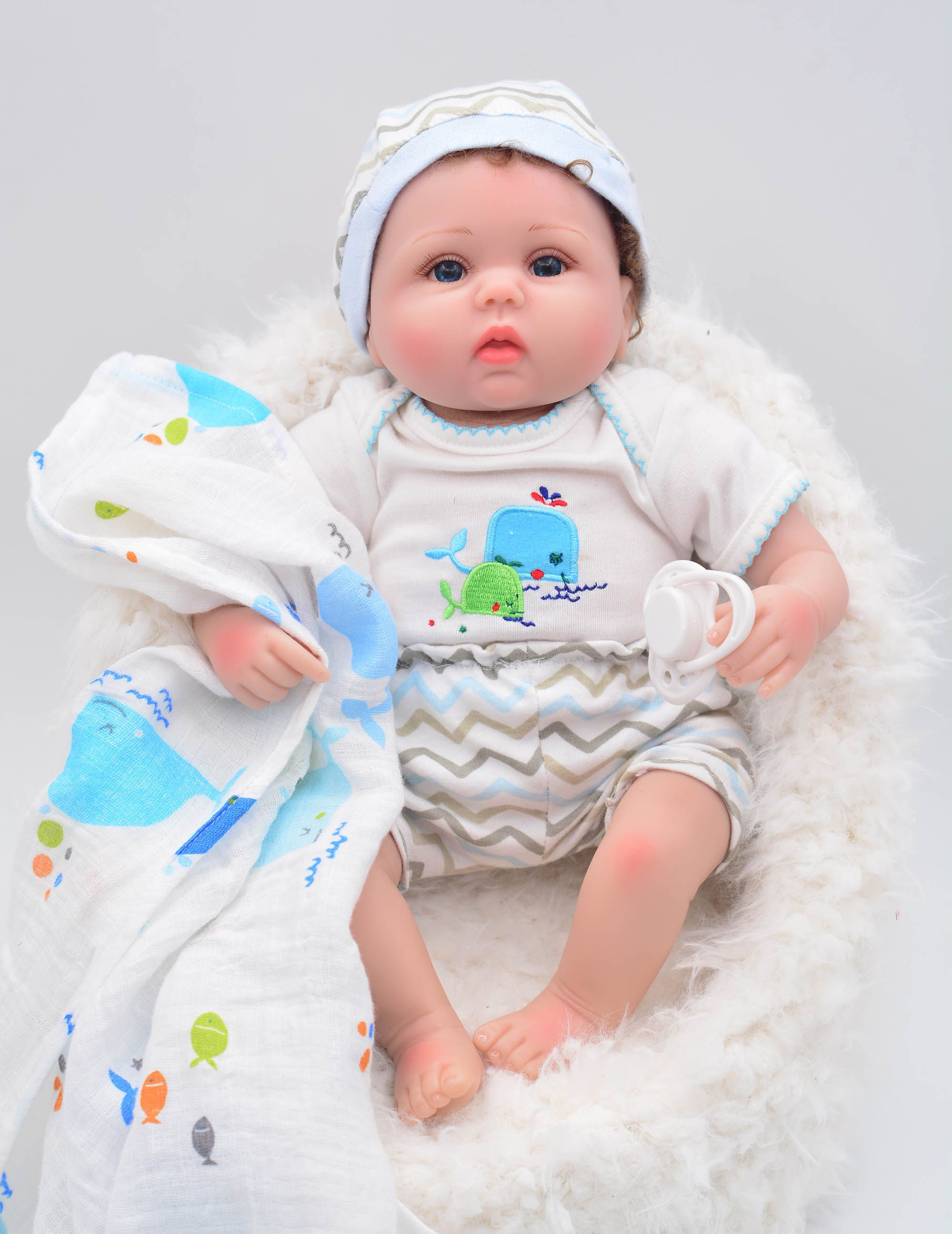 "Adorable Newborn Baby 22/"" Reborn Silicone Doll Vivid Weighted Body Toddler Gifts"