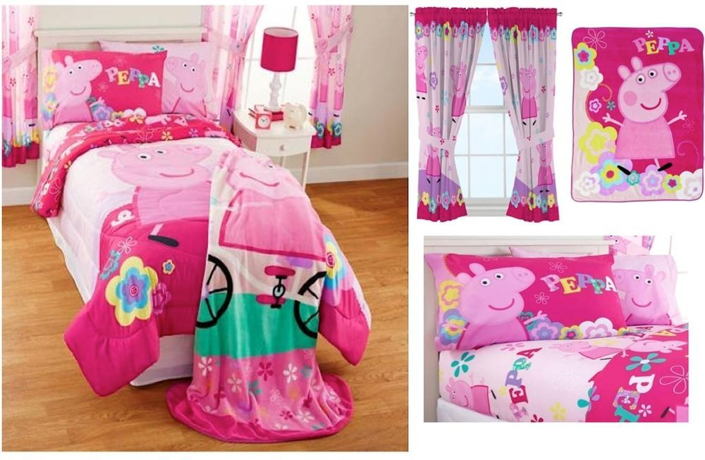 Details About New Kids Peppa Pig Bedding Bed In A Bag Comforter