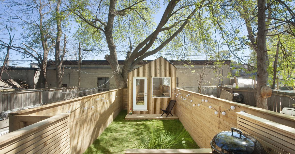 tiny backyard home office. Tiny Backyard Studio Lets Architect Keep An Eye On His Kid Home Office