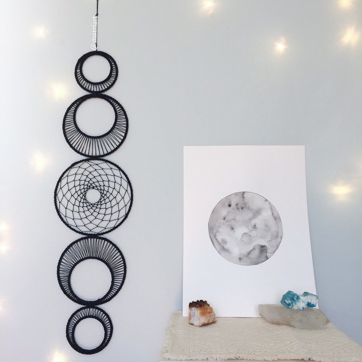 Large Moon Phase Wall Art  Large Moonphase Wall Hanging