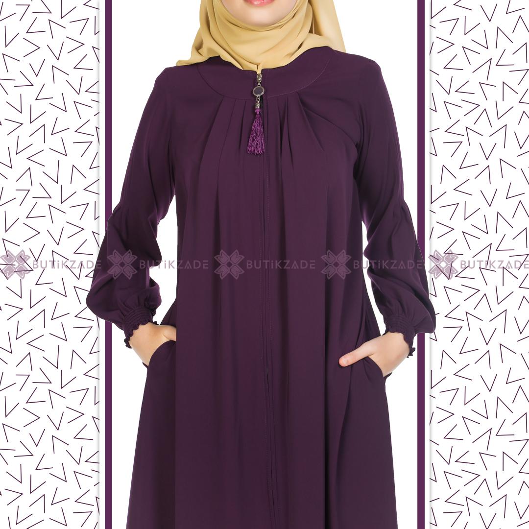Puskullu Robali Ferace Murdum Musluman Elbisesi Moda Stilleri Islami Giyim
