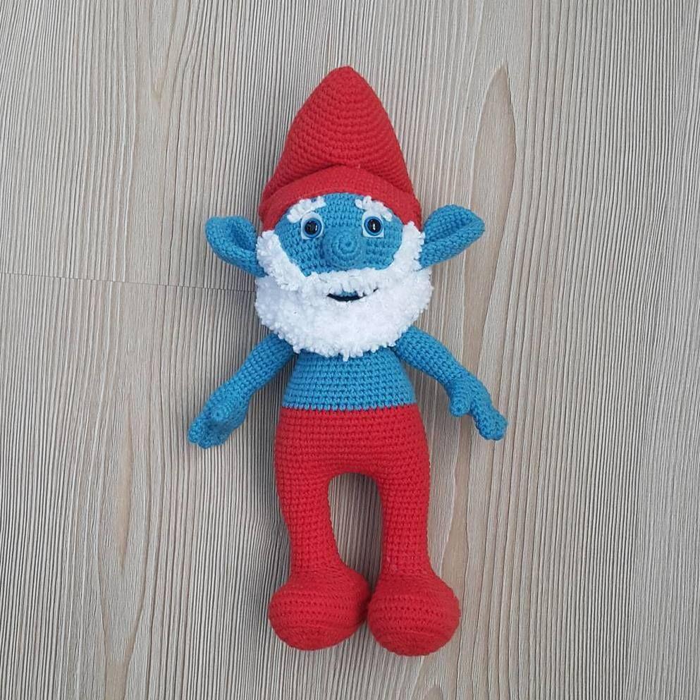 Papa Smurf crocheted by Lavanta Hobi Crochet pattern by Amigurumi ...