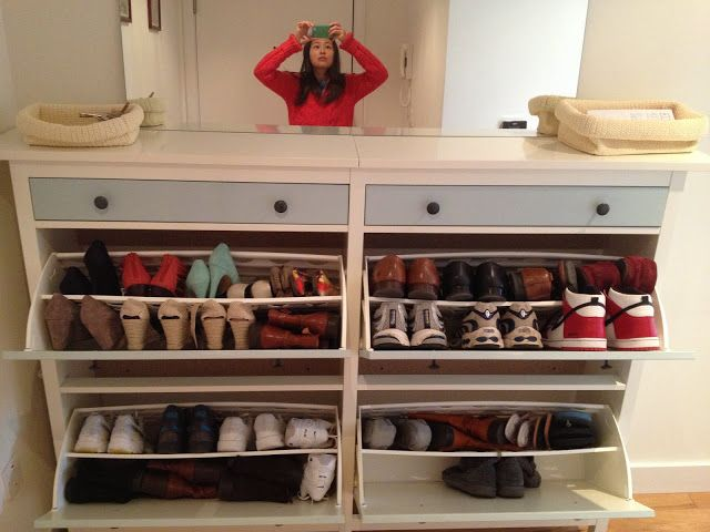 Wedded Hemnes Shoe Cabinets Twined And Painted Shoe Storage