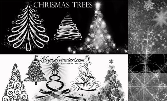 500 Christmas Photoshop Brushes And Other Design Resources Free Download Tree Photoshop Photoshop Brushes Photoshop Brushes Free