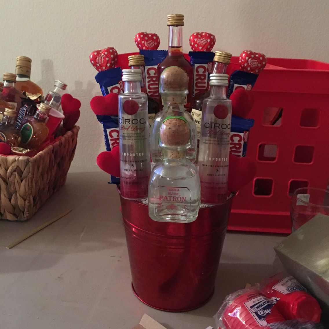 Ciroc And Patron Liquor Bouquet Alcohol Ciroc