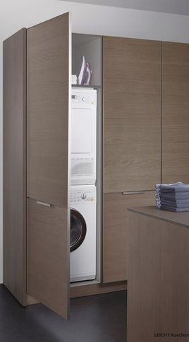 Skjult vaskemaskin Vaskerom Pinterest Kitchen Cabinets