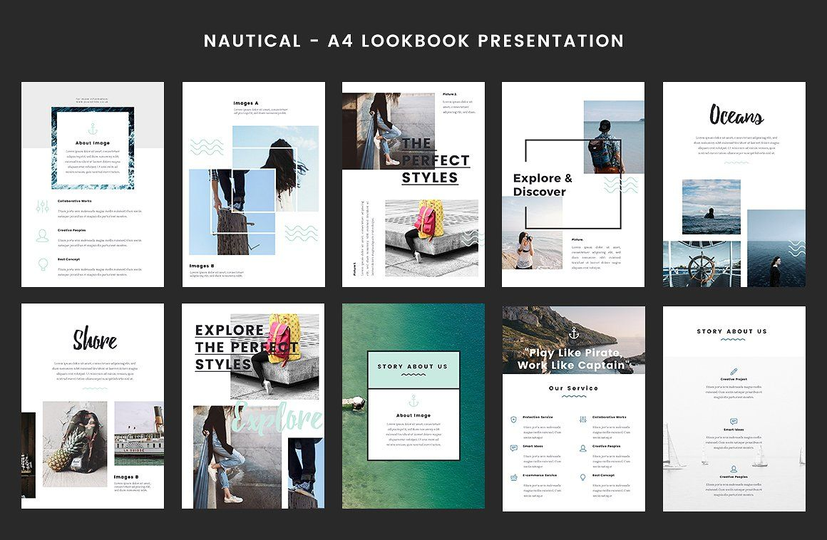 Nautical a4 printable powerpoint explore yacht club presentation and more toneelgroepblik Image collections